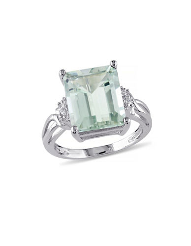 Concerto 5.625TCW Green Amethyst and White Topaz Sterling Silver Cocktail Ring-AMETHYST-8