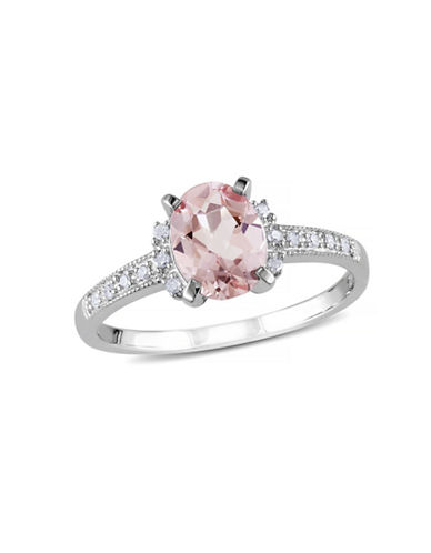 Concerto 1.14TCW Morganite and Diamond Sterling Silver Ring-PINK-8
