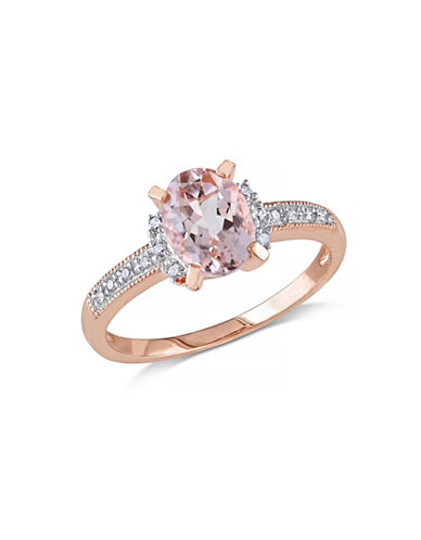 Concerto 1.14TCW Morganite and Diamond Ring-PINK-6