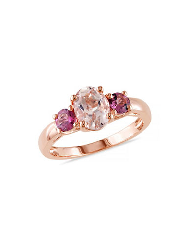 Concerto 1.55TCW Morganite and Pink Tourmaline Ring-PINK-6