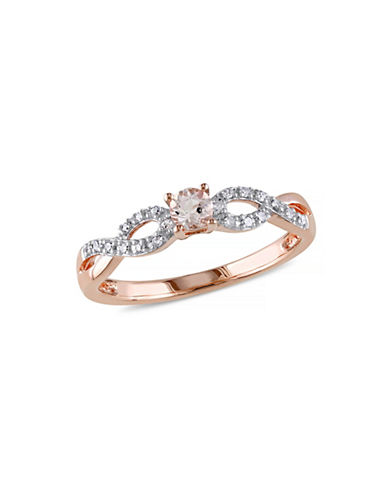 Concerto 0.16TCW Morganite and Diamond Ring-ROSE GOLD-5
