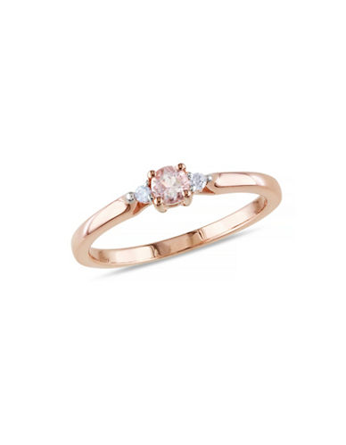 Concerto 0.16TCW Morganite and Diamond Ring-ROSE-9