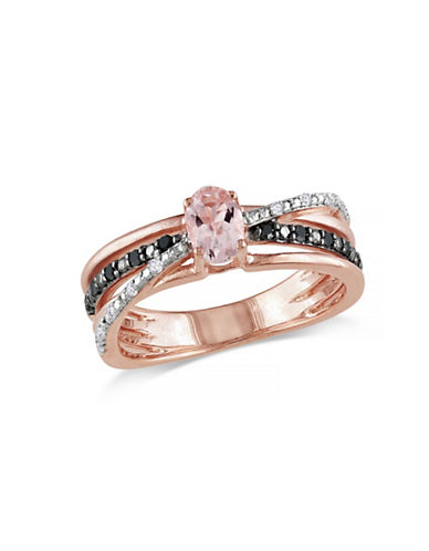 Concerto 0.5TCW Morganite and Diamond Ring-PINK-9
