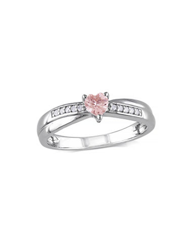 Concerto 0.25TCW Morganite and Diamond Sterling Silver Ring-PINK-6