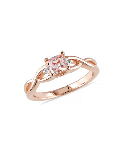 Concerto 0.33TCW Morganite and Diamond Ring-PINK-7