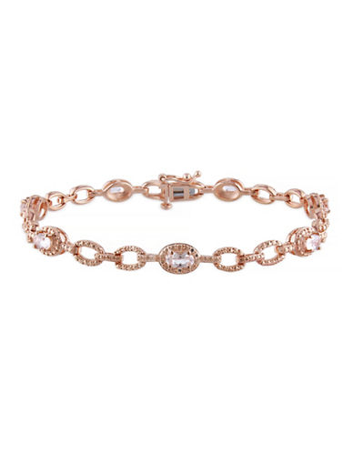Concerto 1.375TCW Morganite Link Bracelet-PINK-One Size