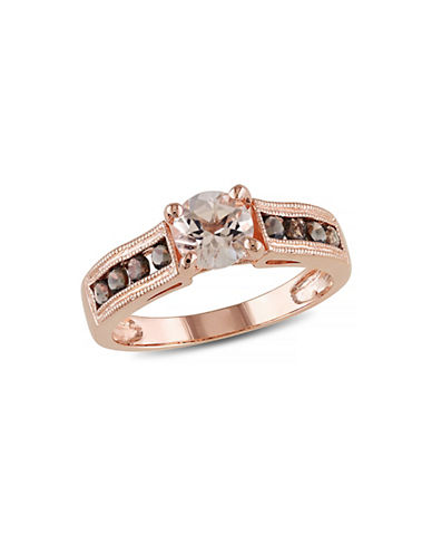 Concerto 1.25TCW Morganite and Smokey Quartz Ring-PINK-5