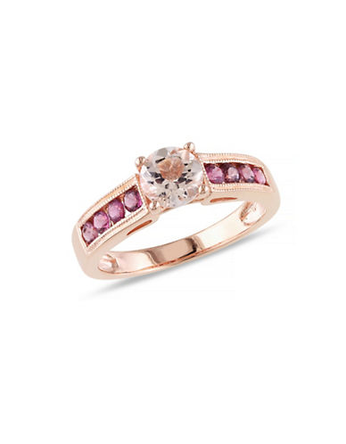 Concerto 1.16TCW Morganite and Pink Tourmaline Ring-PINK-7