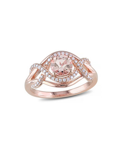 Concerto 0.8TCW Morganite and Diamond Ring-PINK-8