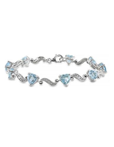 Concerto 8.40TCW Blue Topaz and Diamond Accent Heart Bracelet-TOPAZ-One Size