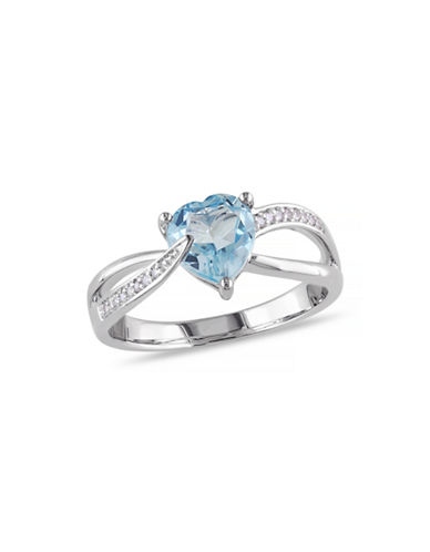 Concerto 1.33TCW Blue Topaz and Diamond Accent Heart Ring-TOPAZ-7