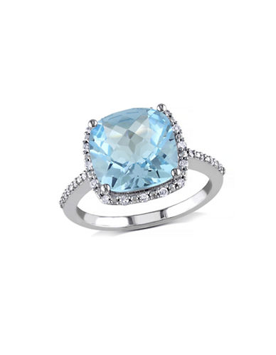 Concerto 5.25TCW Blue Topaz and Diamond Accent Halo Ring-TOPAZ-8