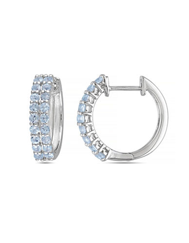 Concerto 0.75TCW Blue Topaz Hoop Earrings-TOPAZ-One Size