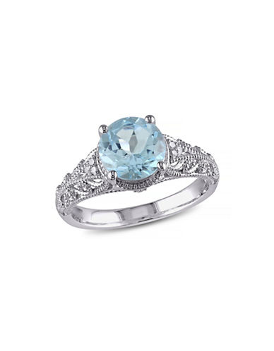 Concerto 2.33TCW Blue Topaz and Diamond Accent Cocktail Ring-TOPAZ-9