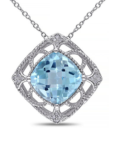 Concerto 8TCW Blue Topaz and Diamond Accent Necklace-TOPAZ-One Size