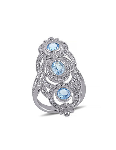 Concerto 2TCW Blue Topaz and Diamond Statement Ring-TOPAZ-8