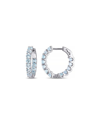 Concerto 6TCW Blue Topaz Hoop Earrings-TOPAZ-One Size