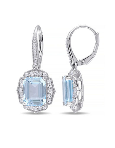 Concerto 9.40TCW Blue and White Topaz Dangle Earrings with Diamond Accent-TOPAZ-One Size