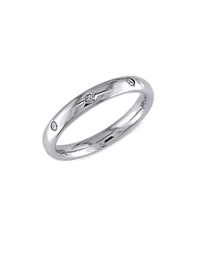 Concerto 14K White Gold Wedding Band with 0.16 Total Carat Weight Diamonds-WHITE GOLD-7
