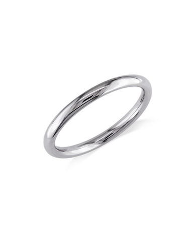 Concerto 14K White Gold Rounded Comfort-Fit Wedding Band-WHITE GOLD-5