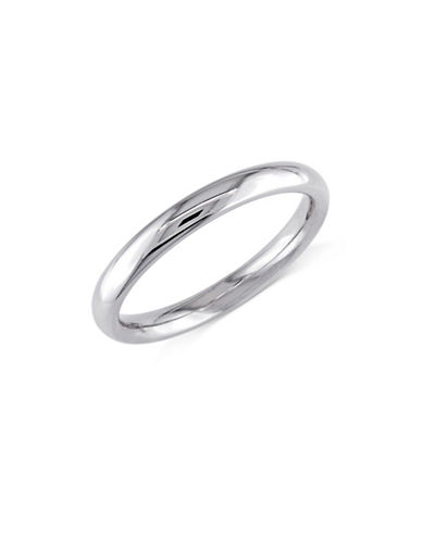 Concerto 14K White Gold Rounded Comfort-Fit Wedding Band-WHITE GOLD-6