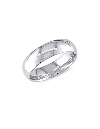 Concerto 14K White Gold Plain Comfort-Fit Wedding Band-WHITE GOLD-5