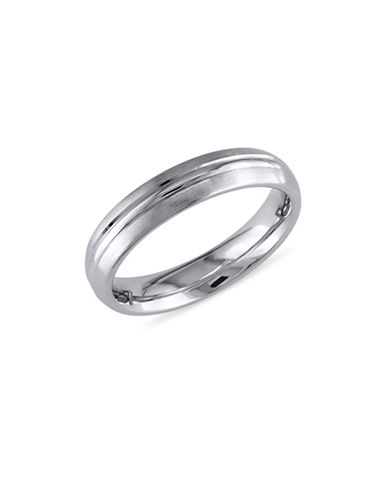 Concerto 14K White Gold Textured Wedding Band-WHITE GOLD-7