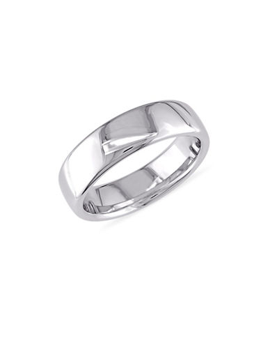 Concerto 14K White Gold Euro Comfort-Fit Wedding Band-WHITE GOLD-9
