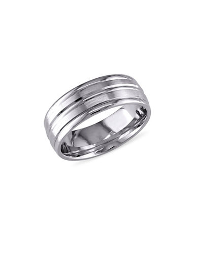 Concerto 14K White Gold Brushed Wedding Band-WHITE GOLD-12