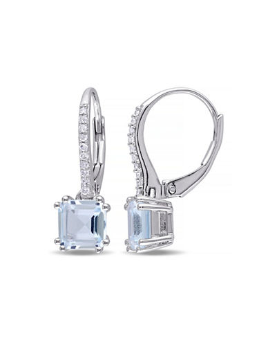 Concerto 2.2TCW Blue Topaz and Diamond Accent Drop Earrings-TOPAZ-One Size