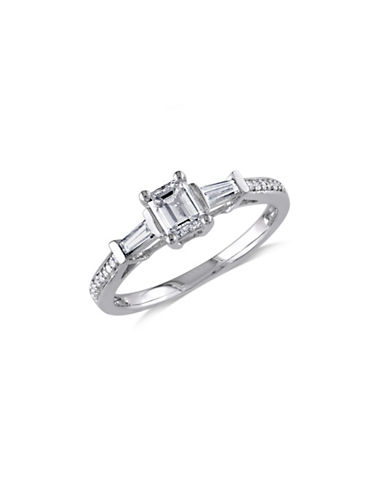 Concerto 14K White Gold Multi-Shape 0.75 TCW Engagement Ring-DIAMOND-8