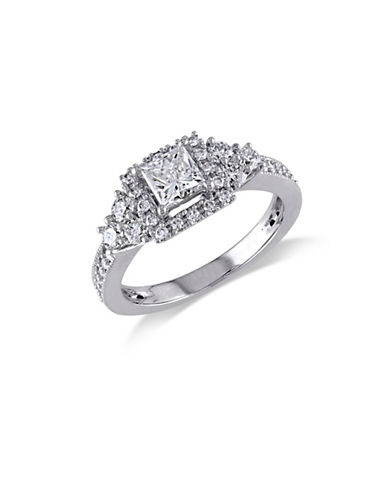 Concerto 14K White Gold Princess Cut 1 TCW Diamond Engagement Ring-DIAMOND-7
