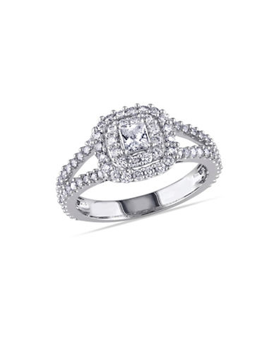 Concerto 14K White Gold Double Halo 1 TCW Diamond Engagement Ring-DIAMOND-8