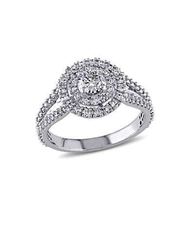 Concerto 14K White Gold Double Halo 1 TCW Diamond Engagement Ring-DIAMOND-5