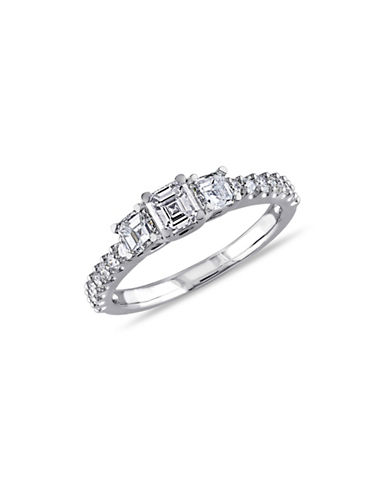 Concerto 14K White Gold Asscher-Cut 3-Stone 1 TCW Diamond Engagement Ring-DIAMOND-8