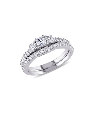 Concerto 14K White Gold 3-Stone 1.25 TCW Bridal Set-DIAMOND-8