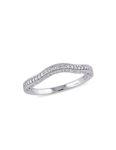 Concerto 14K White Gold Ladies Curved 0.10 TCW Wedding Band-DIAMOND-6