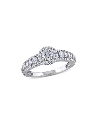 Concerto 14K White Gold Halo 1 TCW Diamond Engagement Ring-DIAMOND-7
