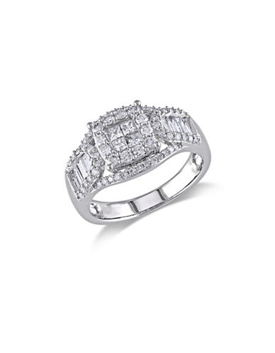 Concerto 14K White Gold Multi-Shape 0.10 TCW Diamond Engagement Ring-DIAMOND-7