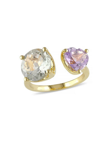 Concerto Green Amethyst and Rose de France Heart Ring-AMETHYST-9