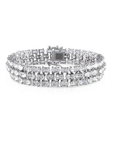 Concerto White Topaz Sterling Silver 3-Row Bracelet-TOPAZ-One Size