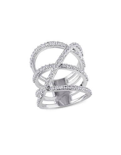 Concerto White Topaz Wrapped Pave Ring-TOPAZ-7