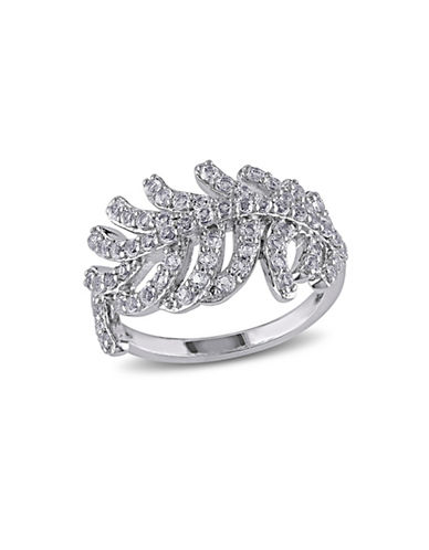 Concerto White Topaz Feather Ring-TOPAZ-5