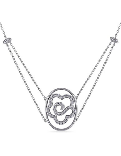 Concerto White Topaz Sterling Silver Flower Necklace-TOPAZ-One Size