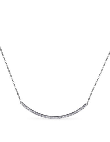 Concerto White Topaz Sterling Silver Bar Necklace-TOPAZ-One Size