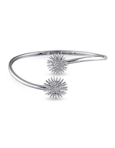 Concerto White Topaz Sterling Silver Bangle Bracelet-TOPAZ-One Size