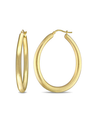Concerto Goldtone Sterling Silver Hoop Earrings-STERLING SILVER-One Size