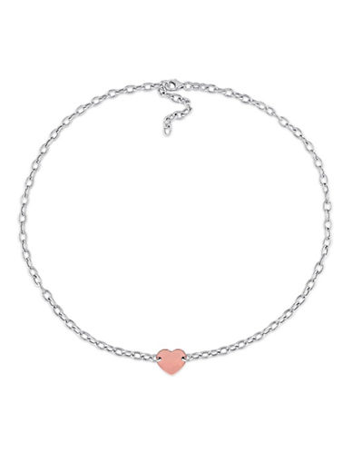 Concerto Two-Tone Sterling Silver Heart Necklace-TWO TONE-One Size