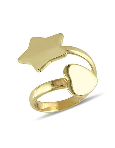 Concerto Goldtone Sterling Silver Star Ring-STERLING SILVER-7