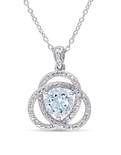 Concerto Diamond Topaz Pendant Necklace-TOPAZ-One Size